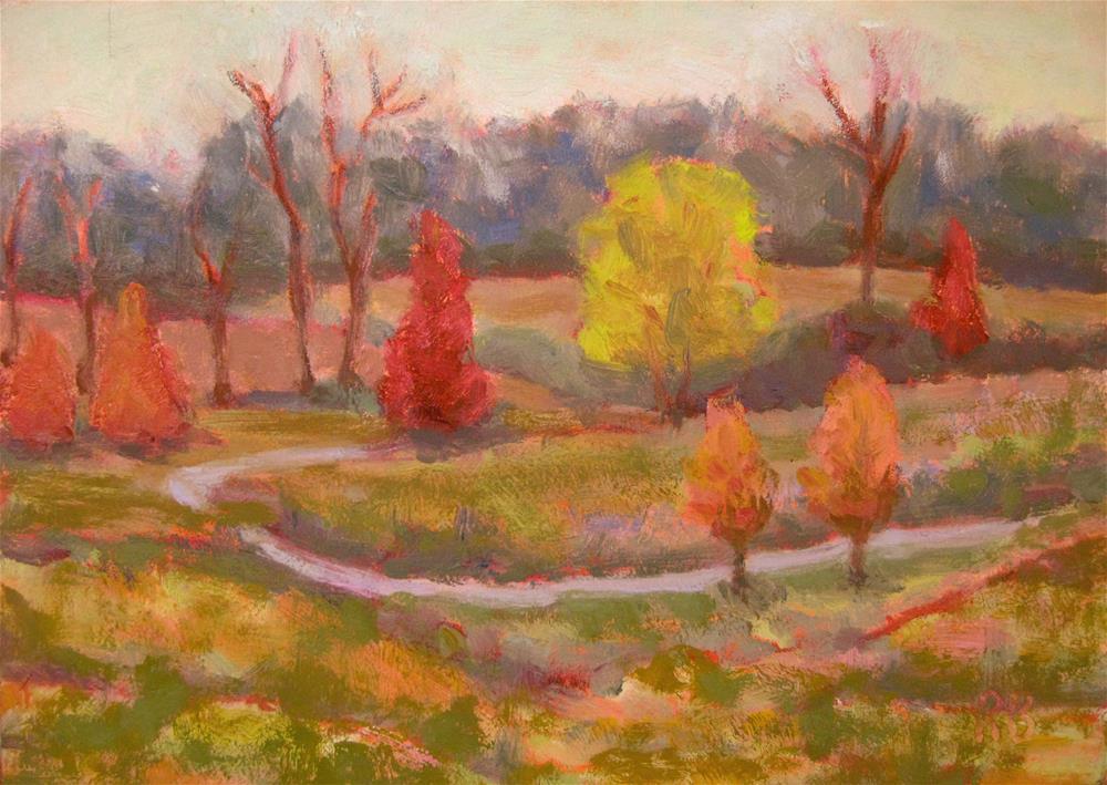 """""""Colorful Walk"""" original fine art by Robie Benve"""
