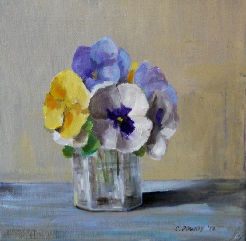 """Pansies"" original fine art by Christina Dowdy"