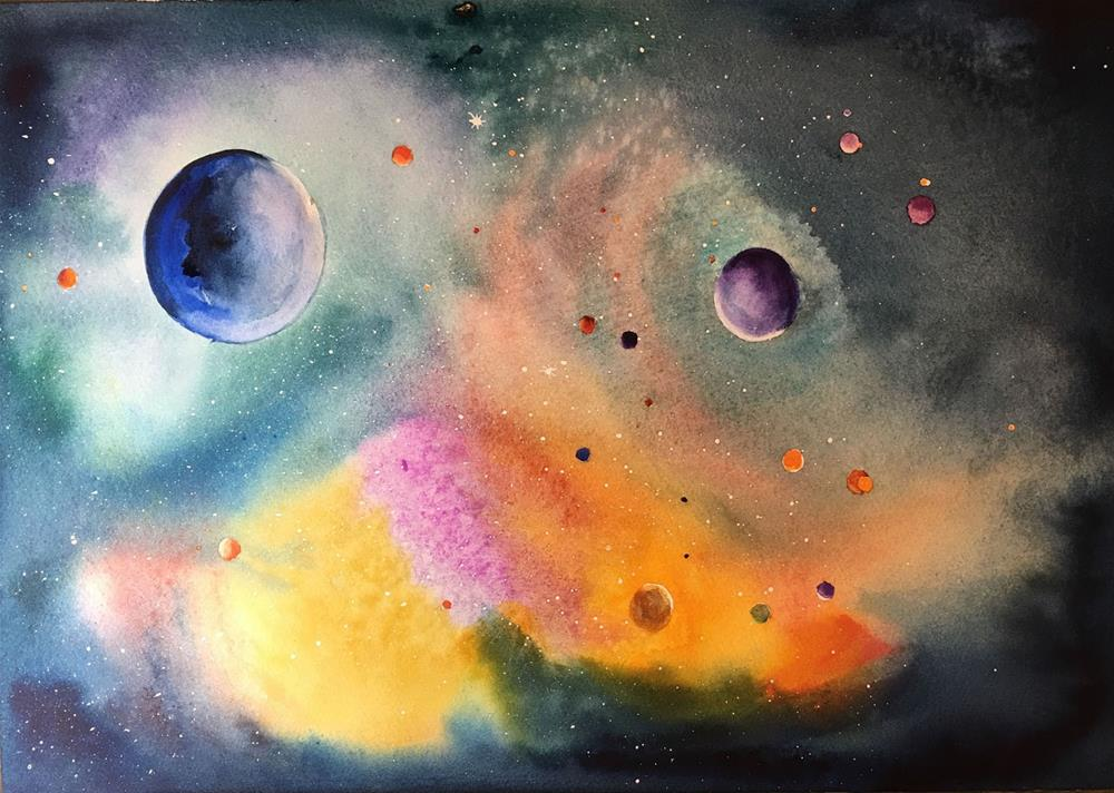 """""""Out of This World"""" original fine art by Bunny Griffeth"""