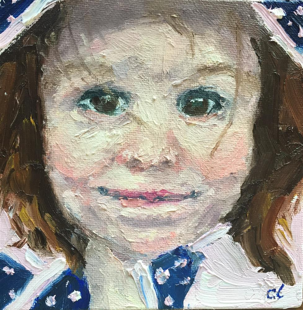 """When she's not singing, she's talking"" original fine art by Cheree Apalona Lueck"