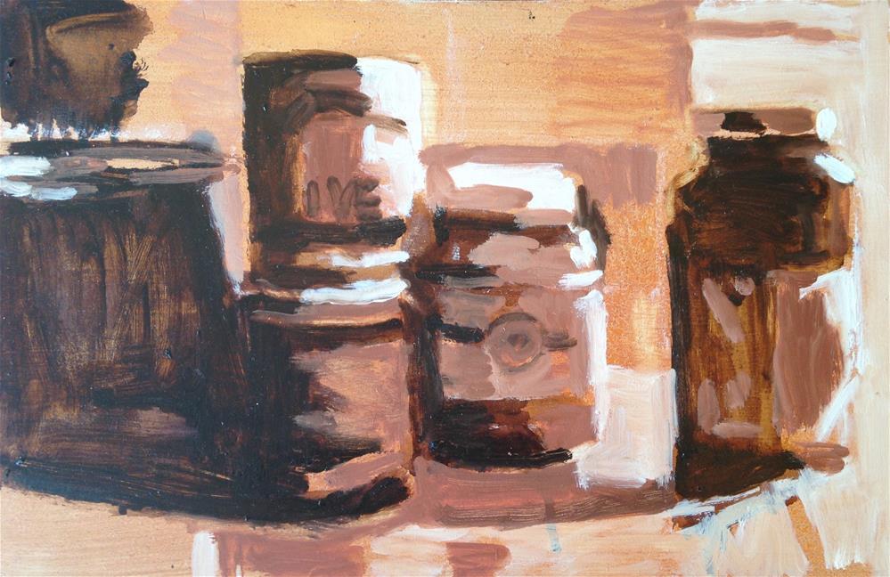 """Value Study of Pantry Goods"" original fine art by Pamela Hoffmeister"