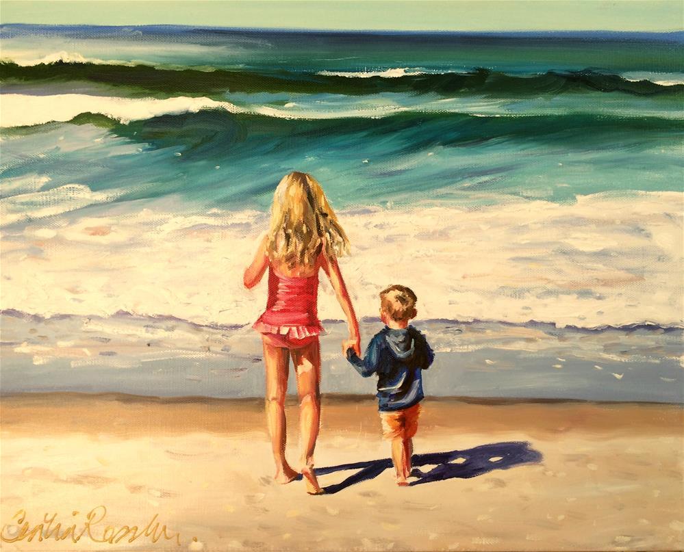 """AT THE SEA"" original fine art by Cecilia Rosslee"