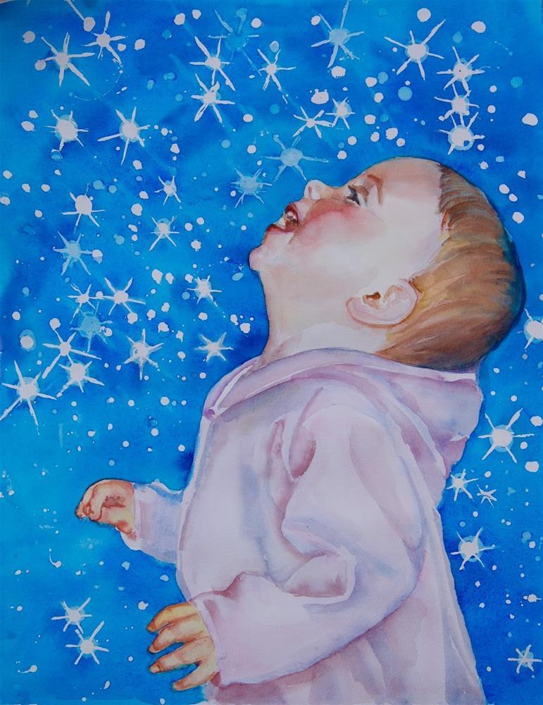 """Star Blanket for Baby"" original fine art by Reveille Kennedy"