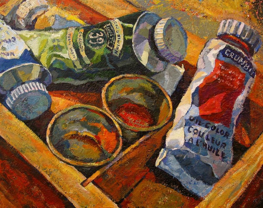 """""""Paintbox"""" original fine art by Katya Minkina"""