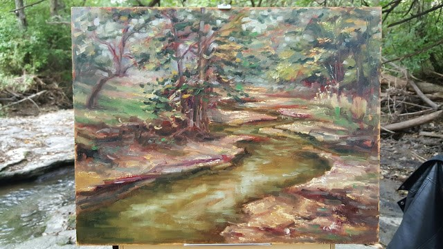 """""""Winding Mill Creek"""" original fine art by Tammie Dickerson"""