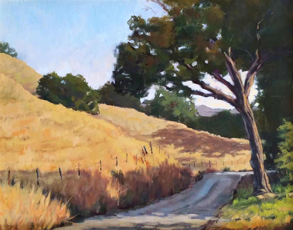 """""""Country Road"""" original fine art by Deborah Newman"""