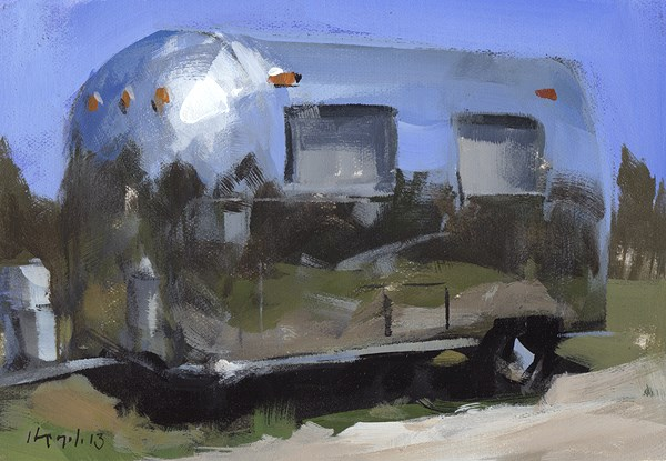"""Airstream - Quick Study"" original fine art by David Lloyd"
