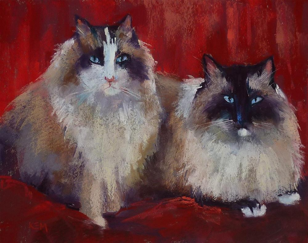"""""""Three Things I've Learned about Painting Cats & Dogs"""" original fine art by Karen Margulis"""
