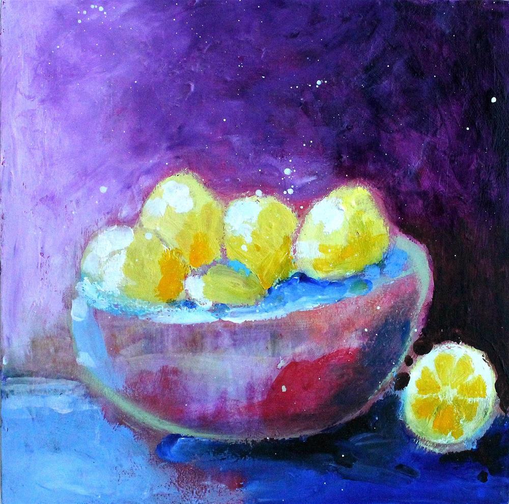 """Bowlful of Lemons"" original fine art by Kerri Blackman"