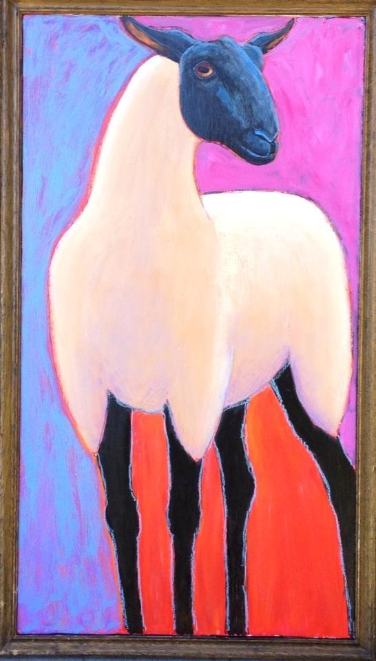 """""""Suffolk Ewe"""" original fine art by Ande Hall"""