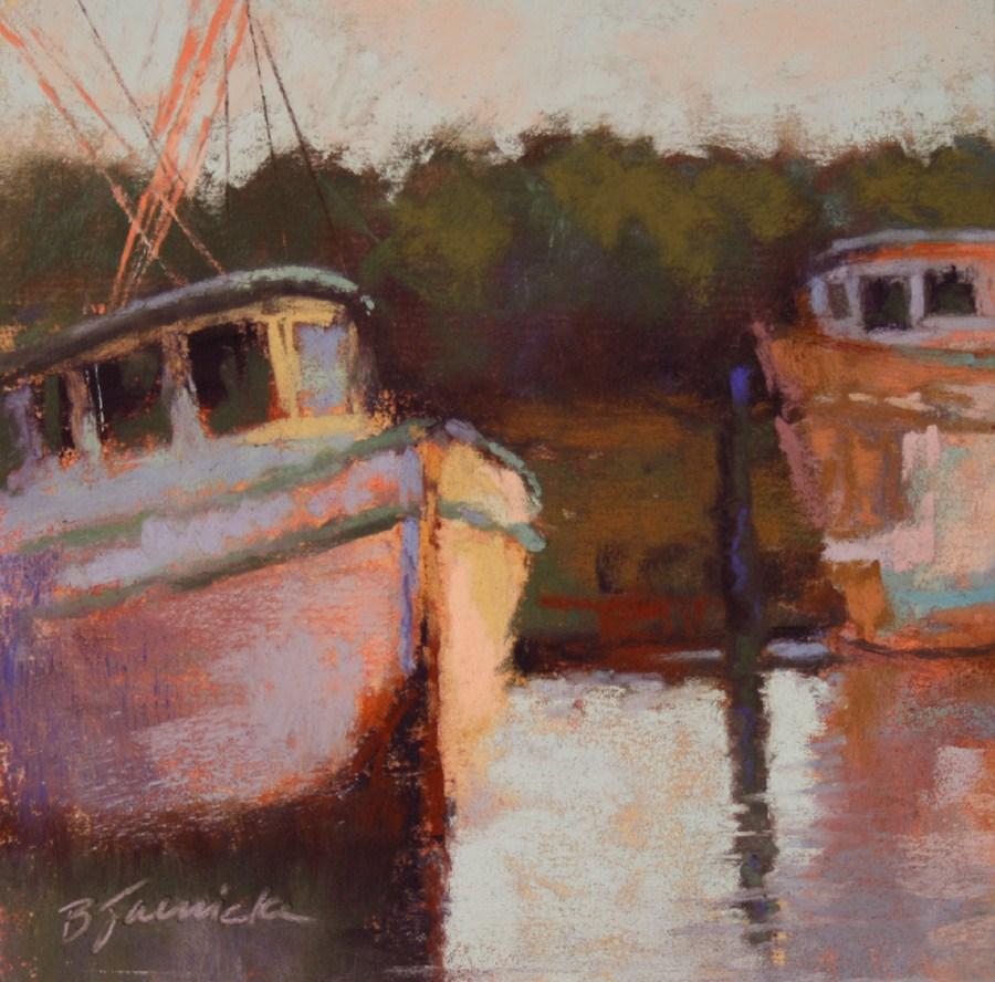 """Old Boats"" original fine art by Barbara Jaenicke"
