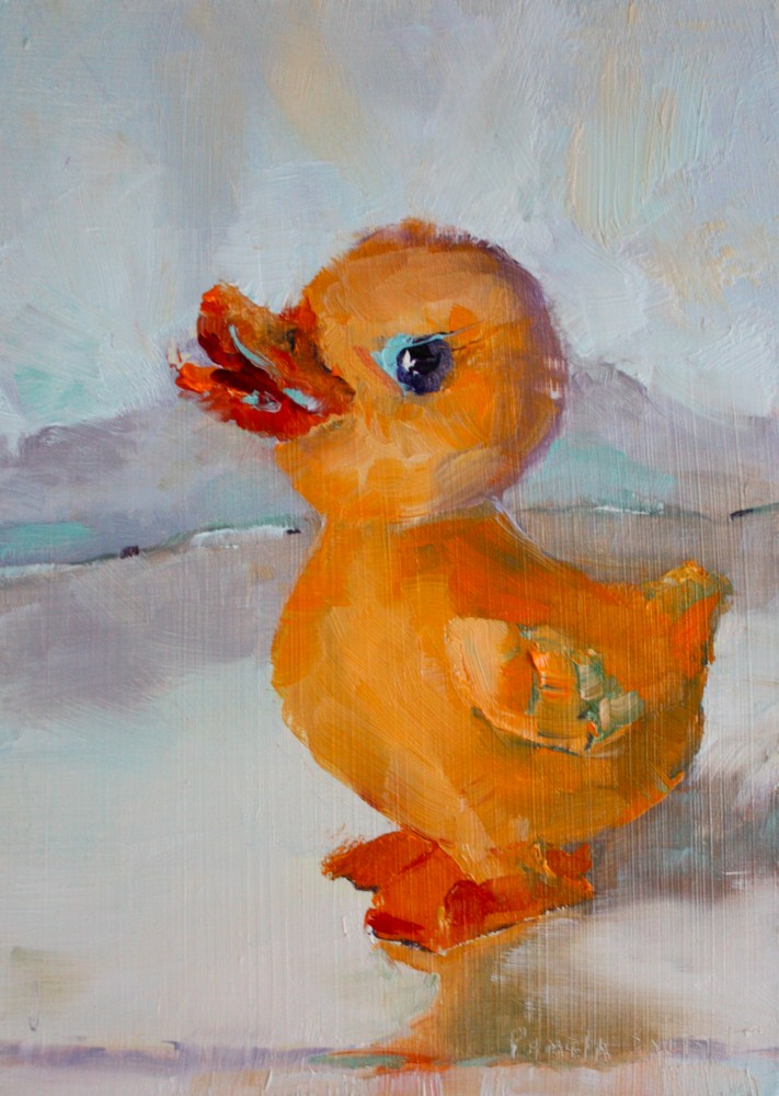 """""""Rubber Duckie Your the One"""" original fine art by Pamela Sweet"""
