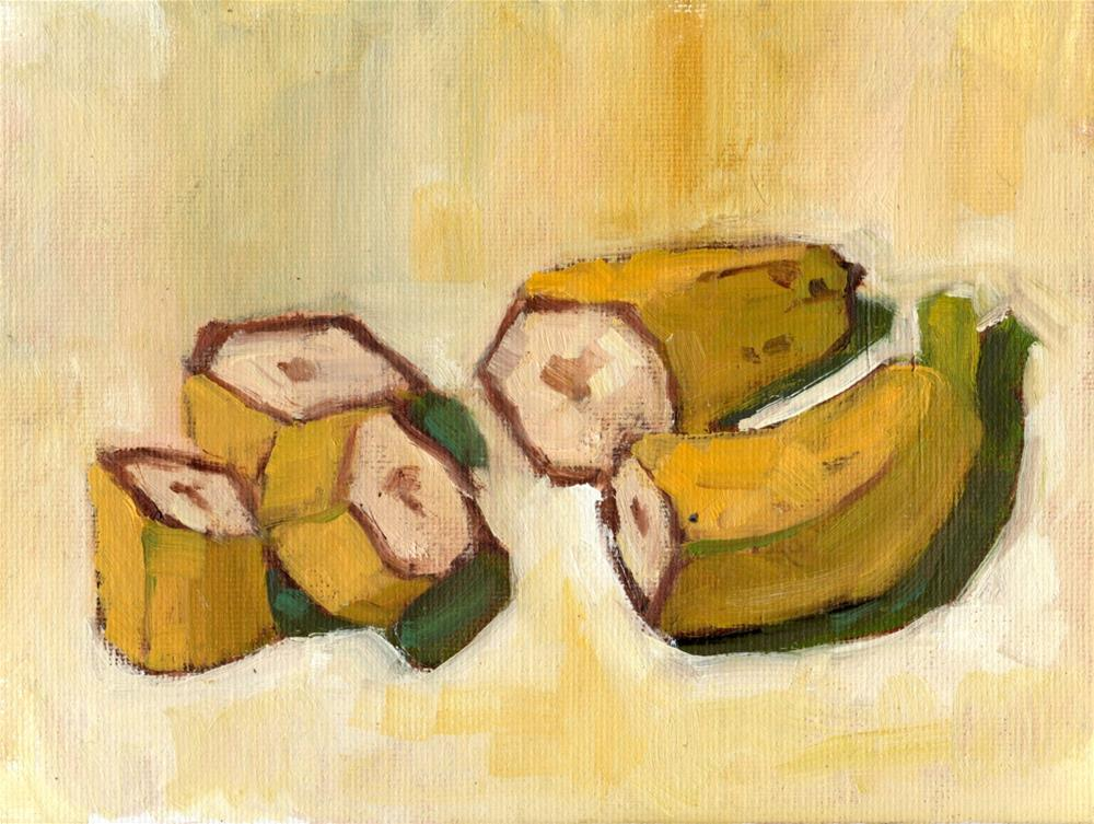 """Fresh Bananas Two Hours Later"" original fine art by Marlene Lee"