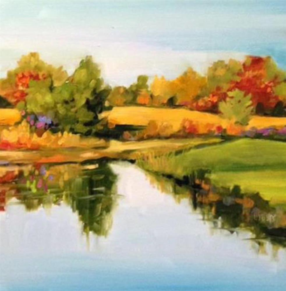 """""""Lakeside"""" original fine art by Libby Anderson"""