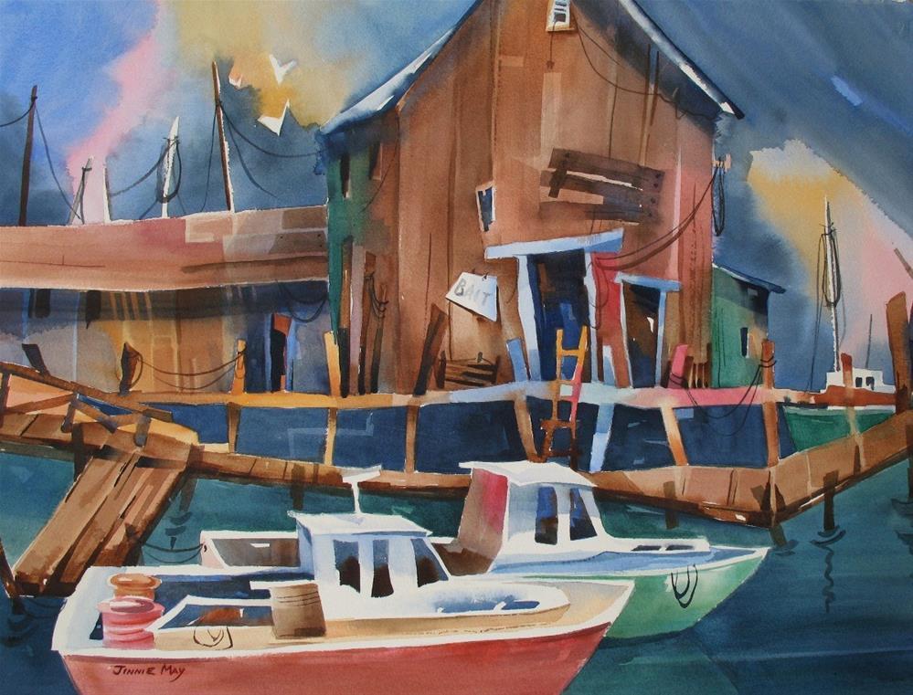 """Rockland Harbor"" original fine art by Jinnie May"