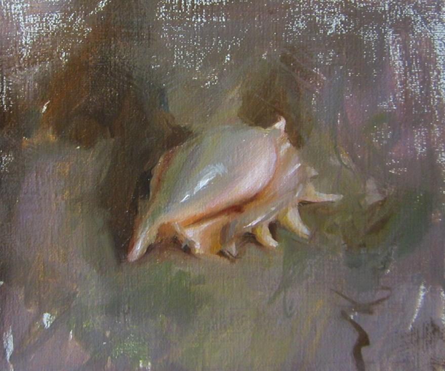"""seashell"" original fine art by Taisia Kuklina"