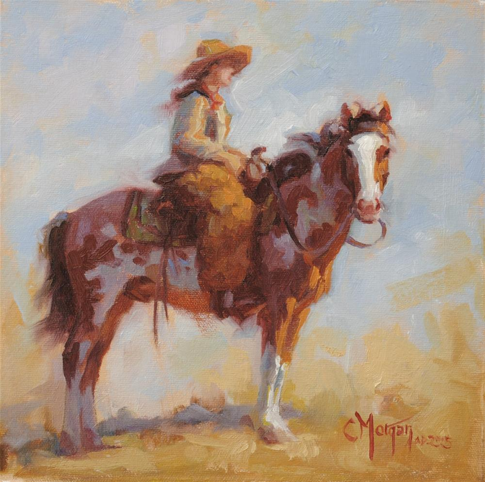"""Cowgirl Memories #8"" original fine art by Cecile W. Morgan"