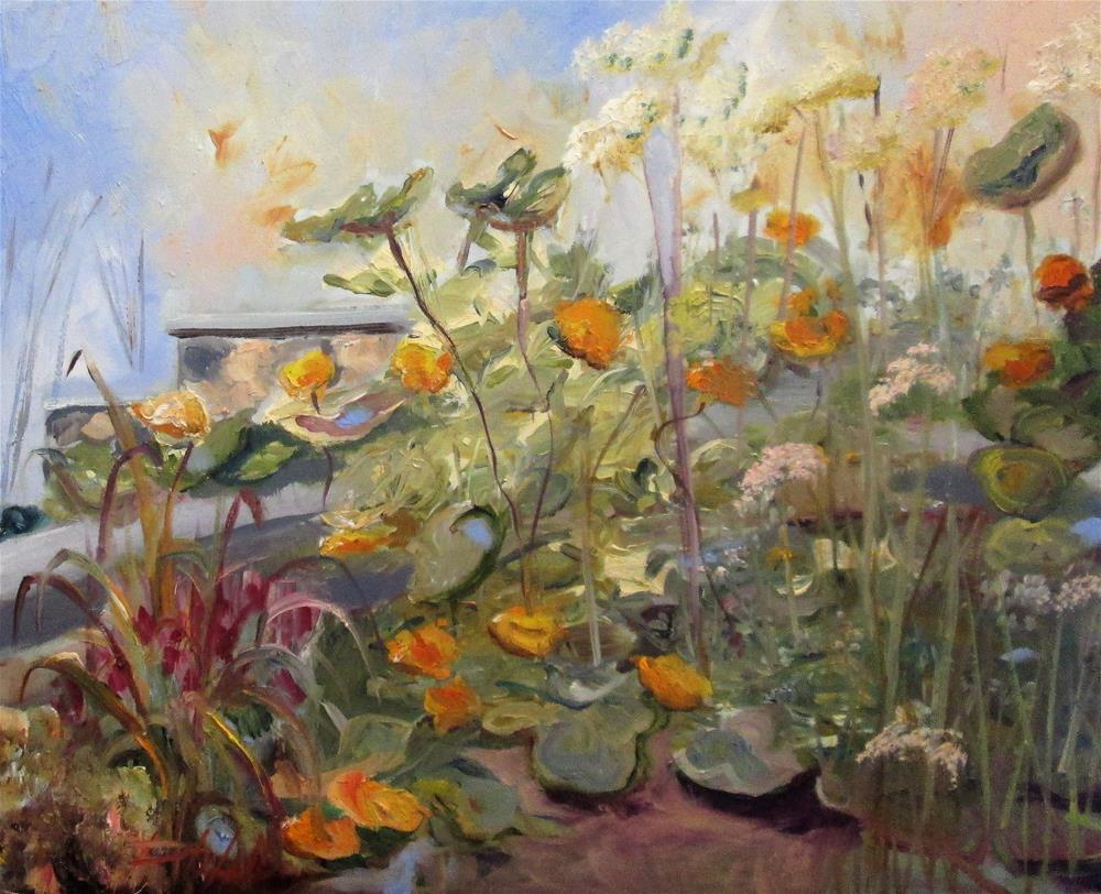 """Squash Blossoms"" original fine art by Delilah Smith"