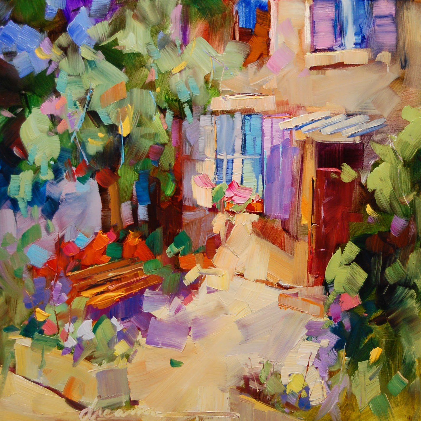 """A Little Piece of Provence"" original fine art by Dreama Tolle Perry"