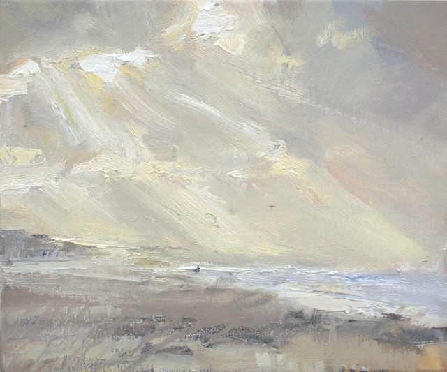 """Seascape autumn #18"" original fine art by Roos Schuring"