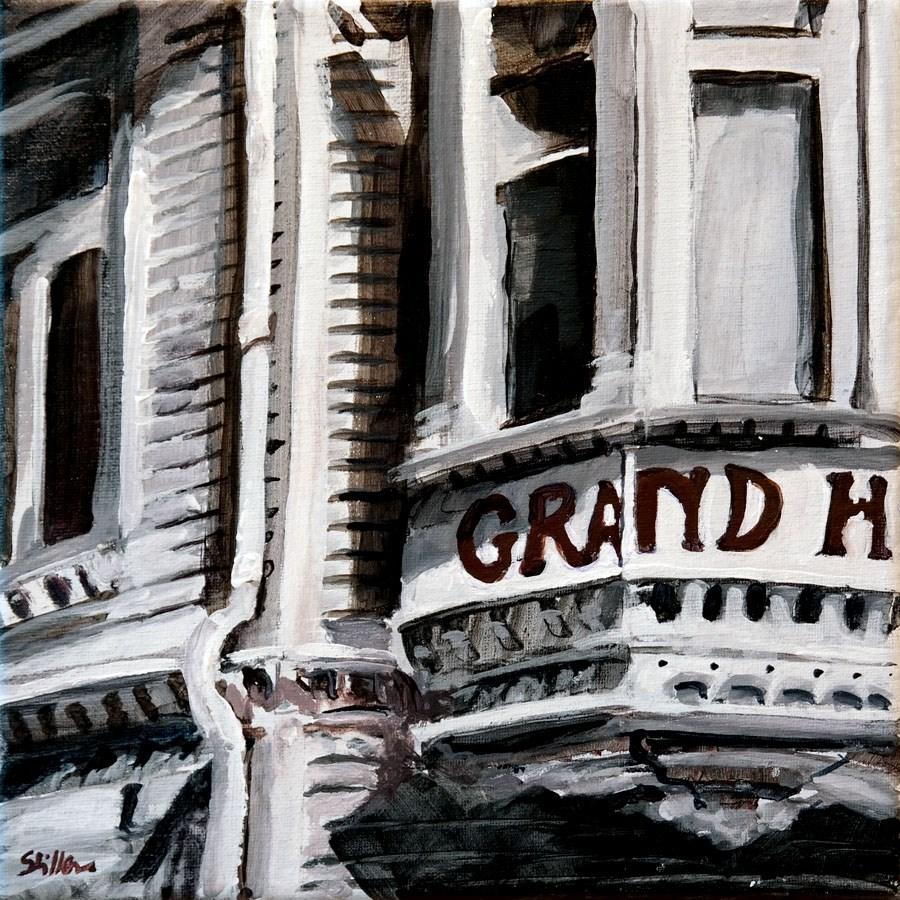 """1444 Grand Hotel"" original fine art by Dietmar Stiller"