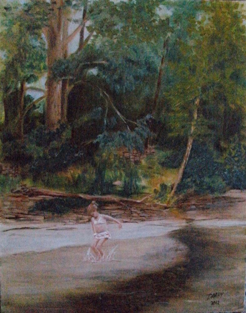 """""""Splash!"""" original fine art by Lynn Darby"""