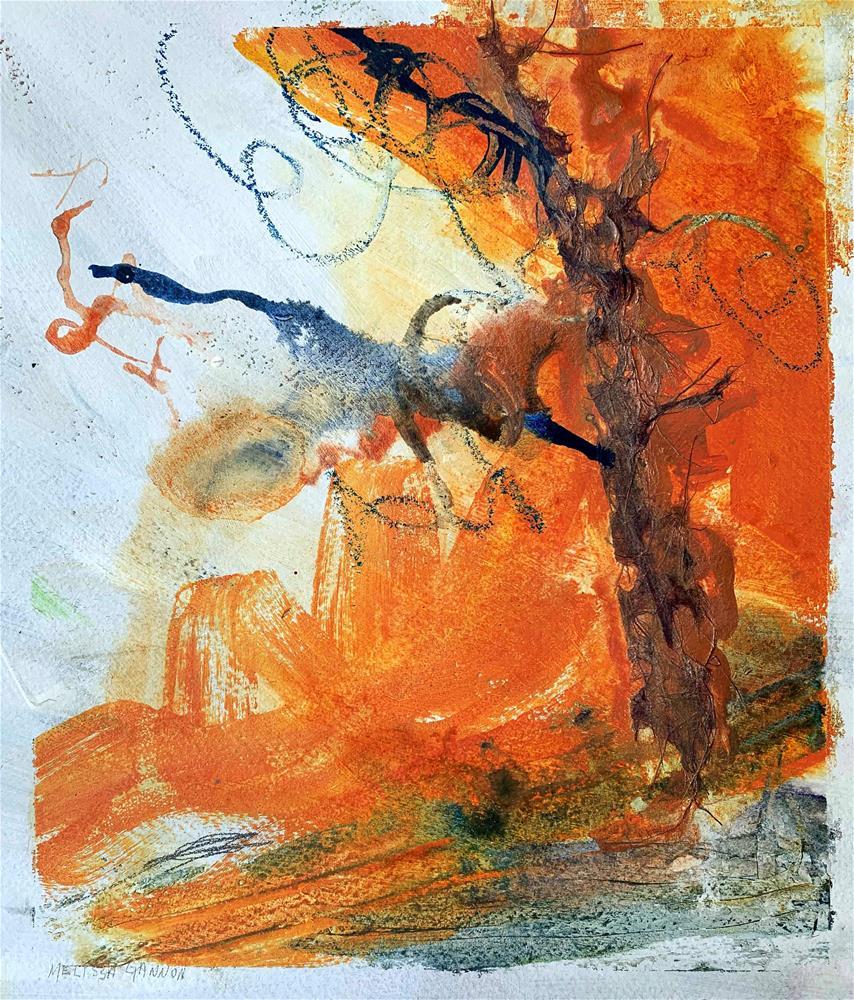 """""""Happy with Change"""" original fine art by Melissa Gannon"""