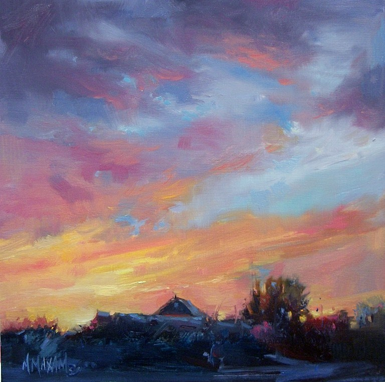 """Year's End"" original fine art by Mary Maxam"