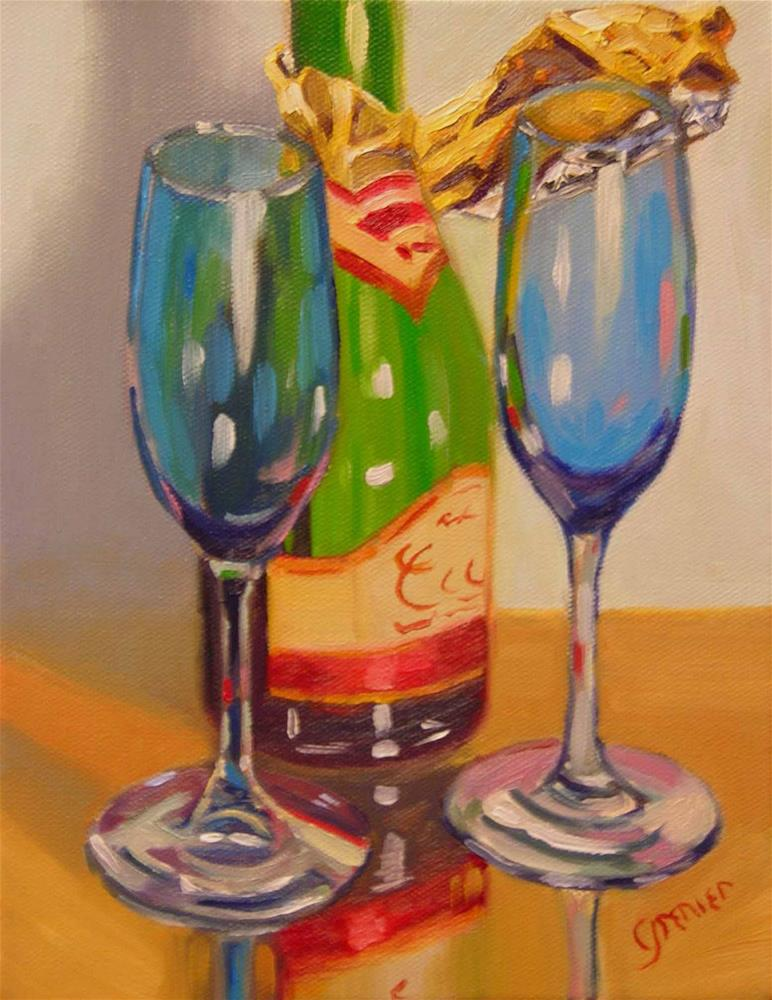"""""""Toast to the New Year"""" original fine art by jean grenier"""