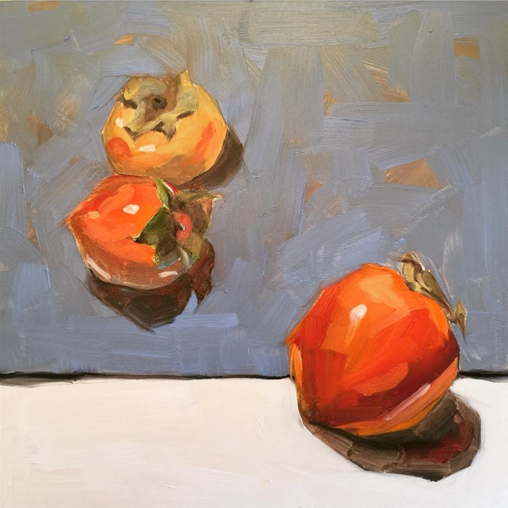 """649 Persimmons"" original fine art by Jenny Doh"
