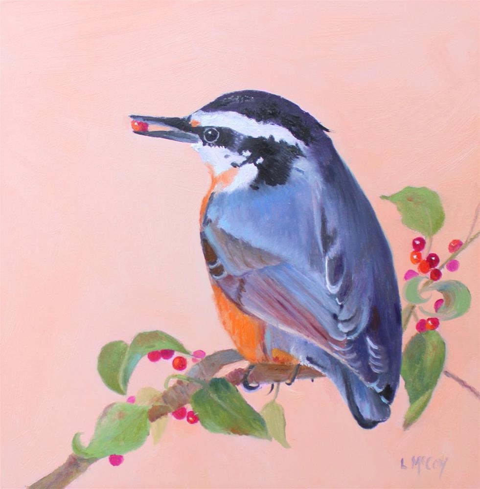"""Red-Breasted Nuthatch"" original fine art by Linda McCoy"