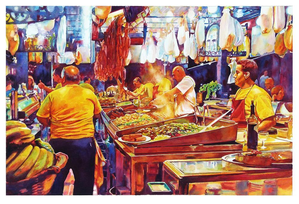 """Carnival cooks."" original fine art by Graham Berry"