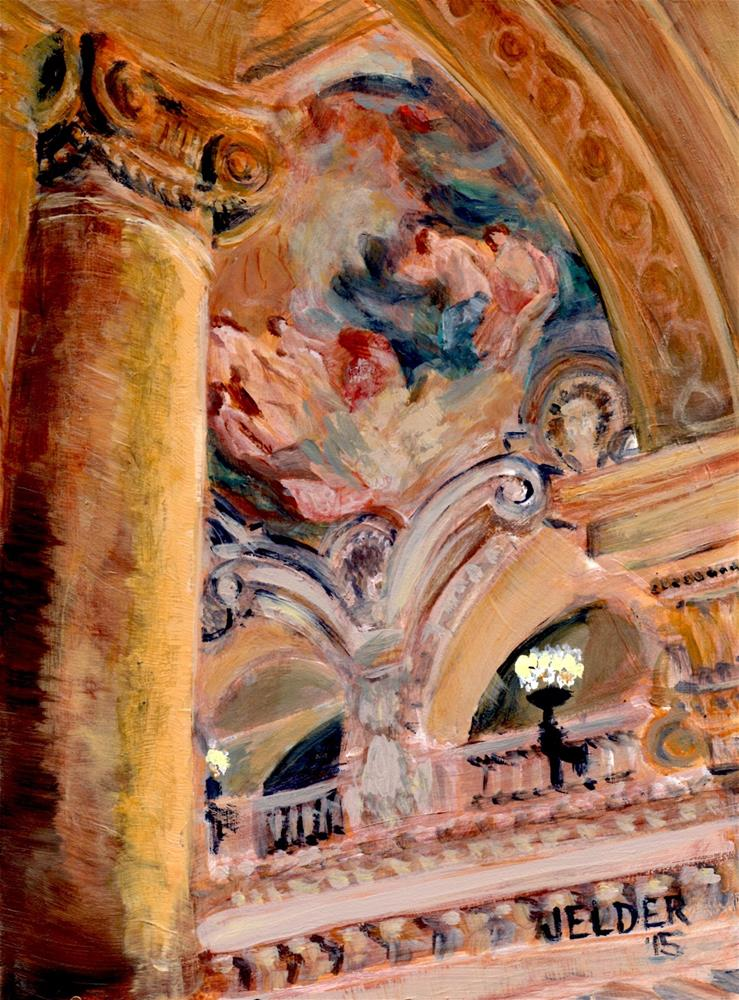 """Paris No. 73, Paris Opera House"" original fine art by Judith Elder"