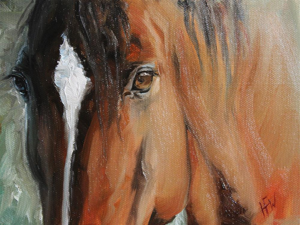 """Beautiful Eyes"" original fine art by H.F. Wallen"