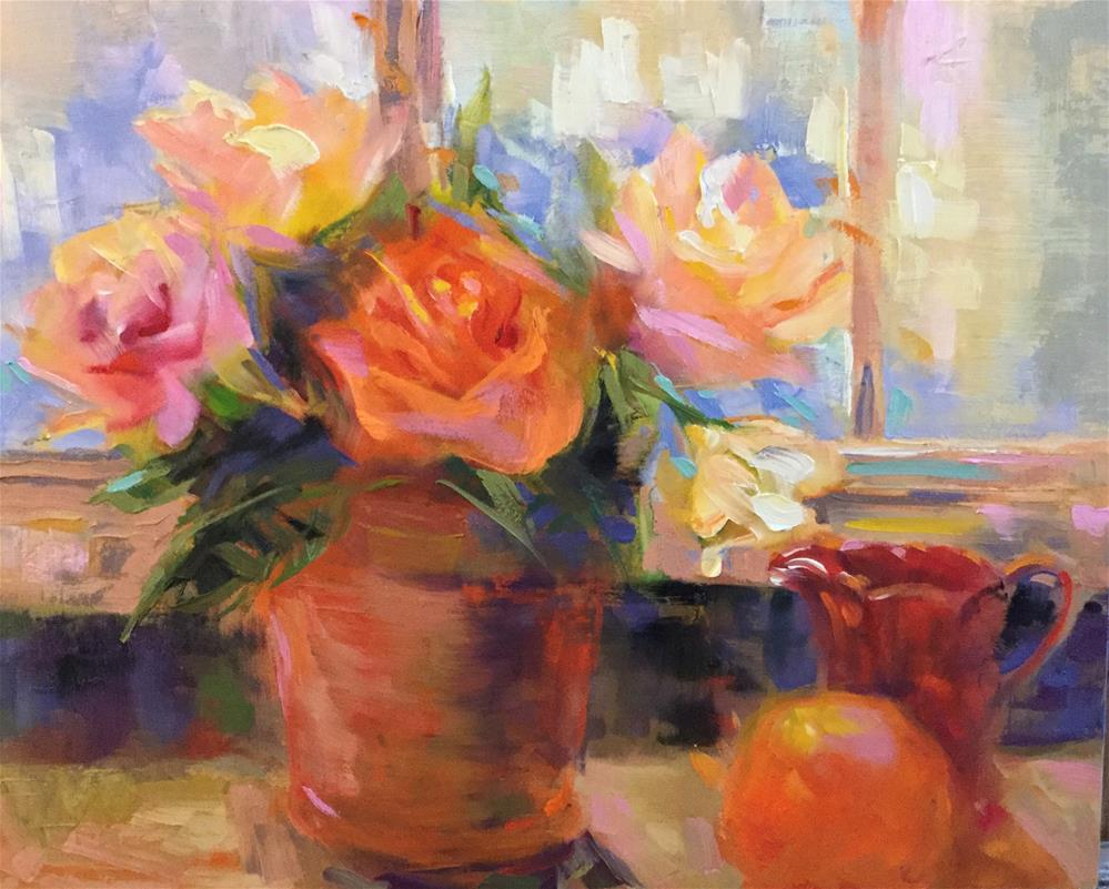 """""""Still Life in Front of a Window"""" original fine art by Charlotte Fitzgerald"""