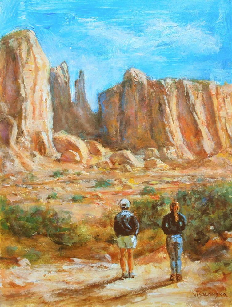 """""""Arizona tourists 3"""" original fine art by vishalandra dakur"""