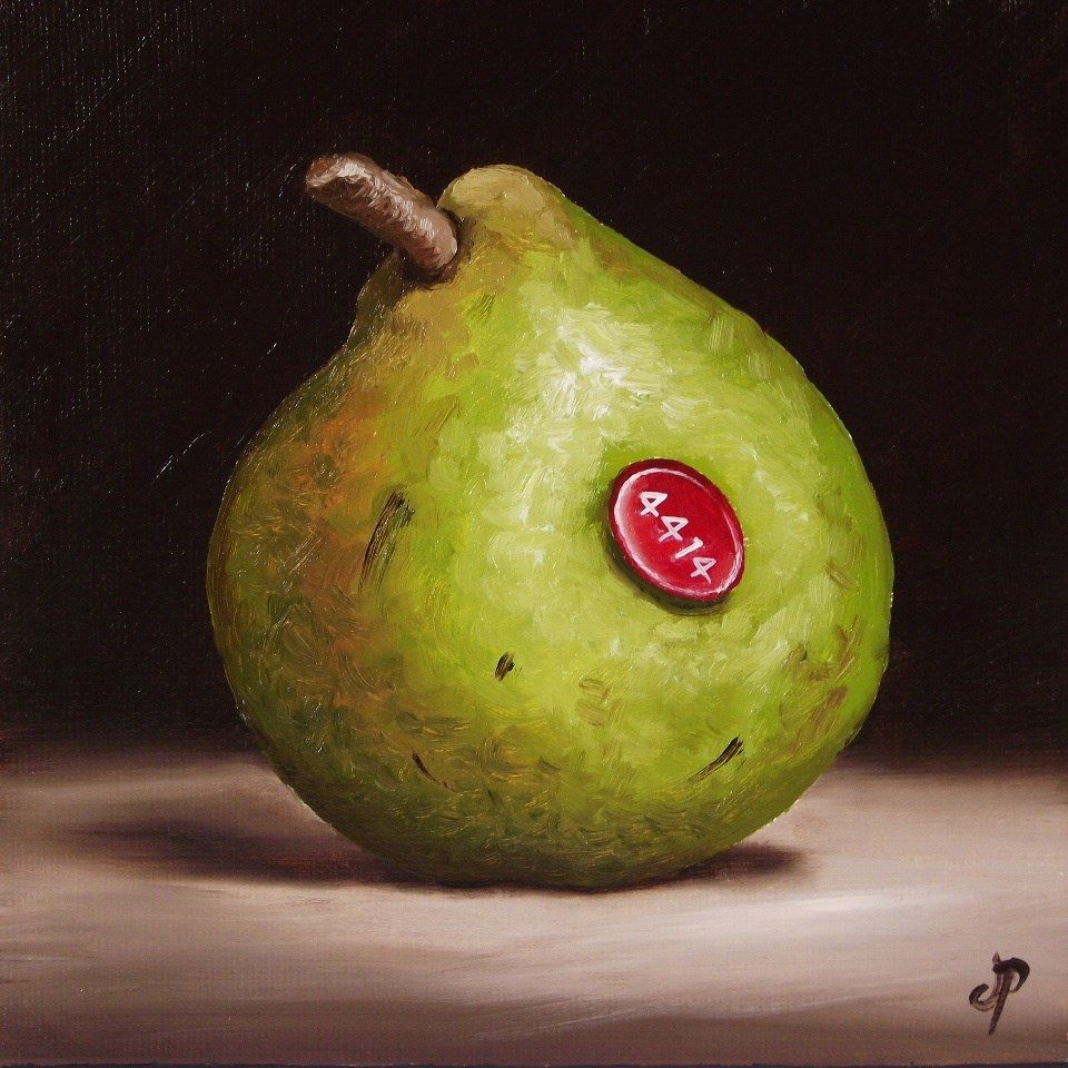 """Comice Pear"" original fine art by Jane Palmer"