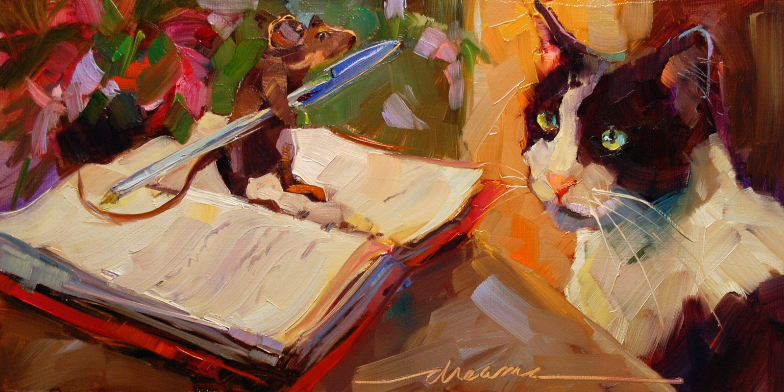"""The Fine Print"" original fine art by Dreama Tolle Perry"
