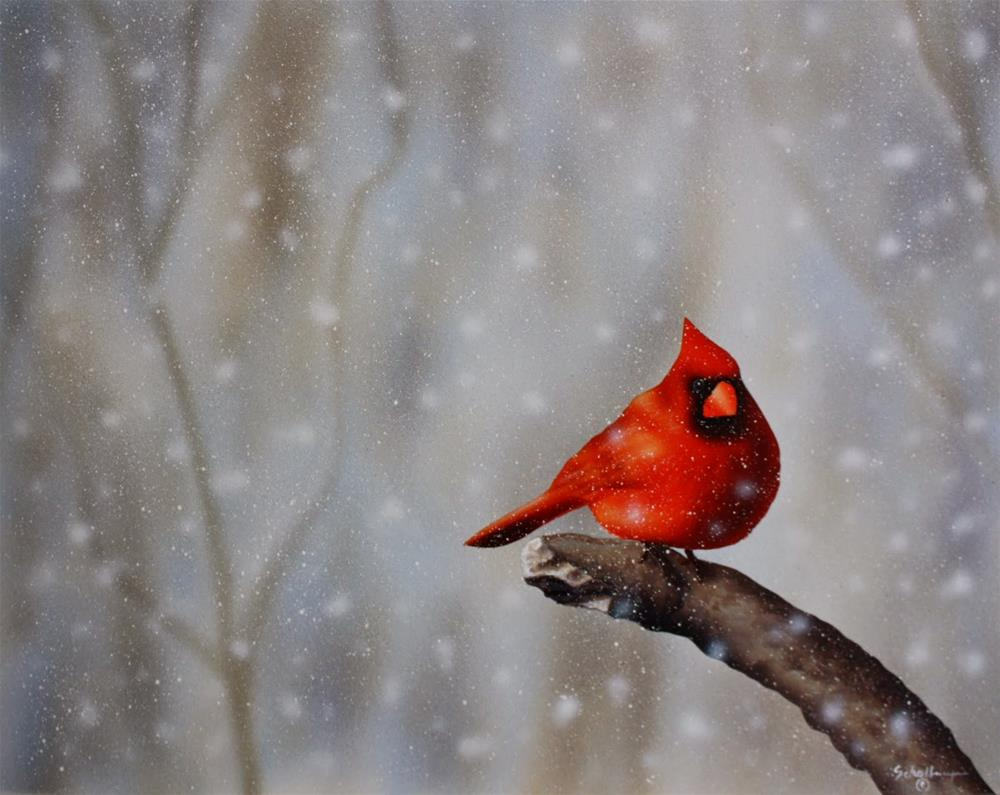 """Frigid Roost"" original fine art by Fred Schollmeyer"