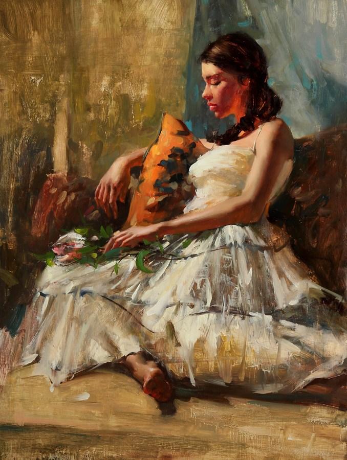 """""""Figure Series 10 - 08 - 2012"""" original fine art by Fongwei Liu"""