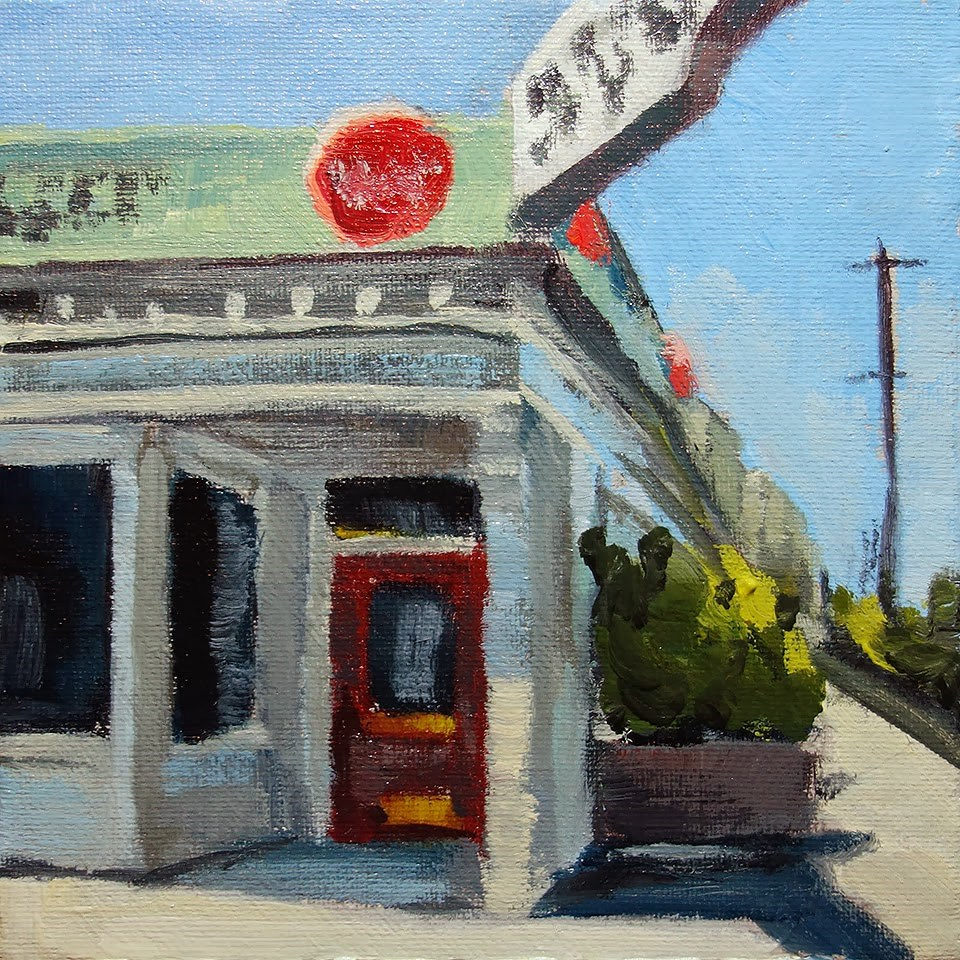 """Balboa Cafe"" original fine art by J. Farnsworth"