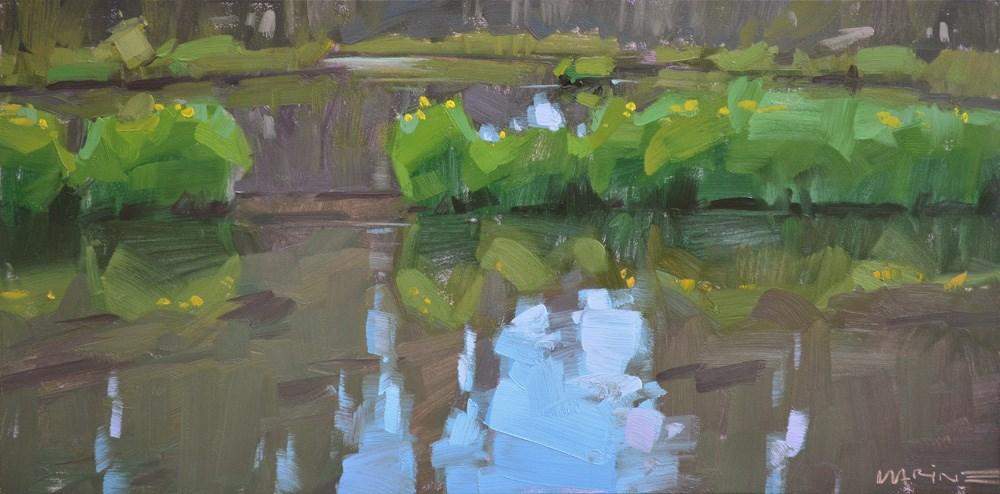 """Fall River 2"" original fine art by Carol Marine"