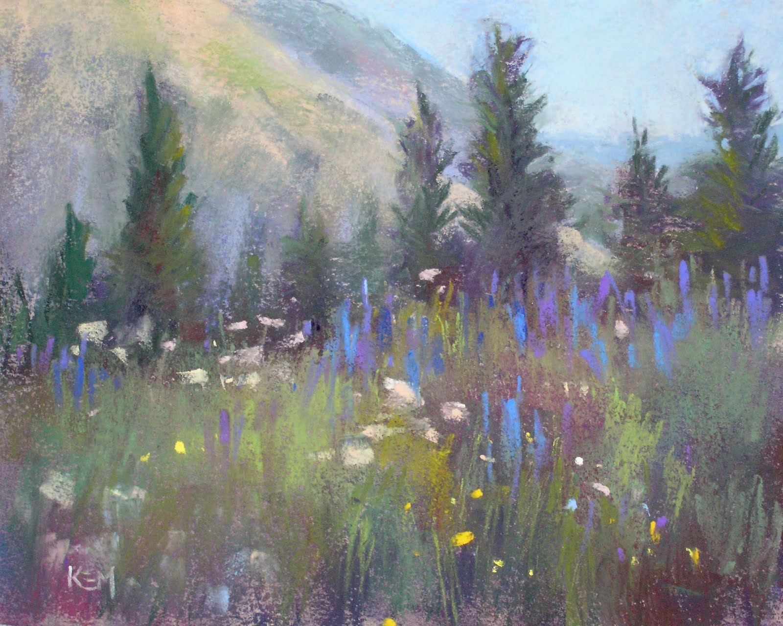 """On the Way to Yankee Boy Basin...Colorado Wildflowers"" original fine art by Karen Margulis"