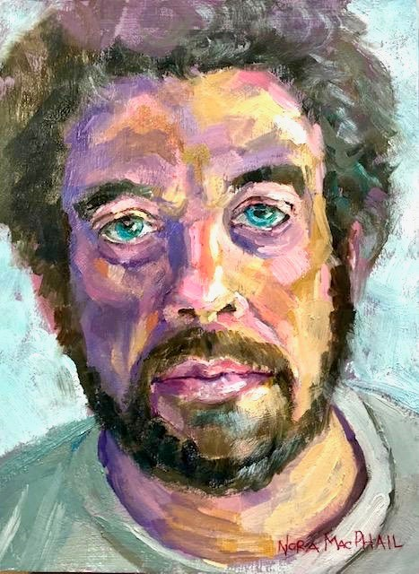 """first oil portrait"" original fine art by Nora MacPhail"