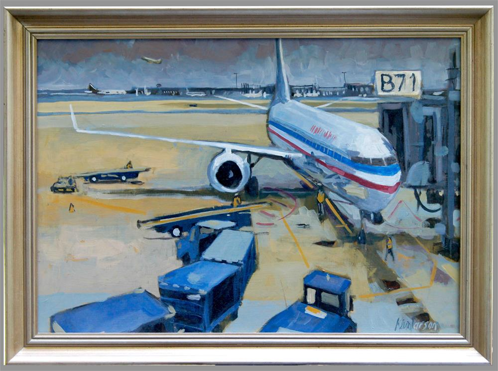 """Gate B71"" original fine art by Kevin Larson"