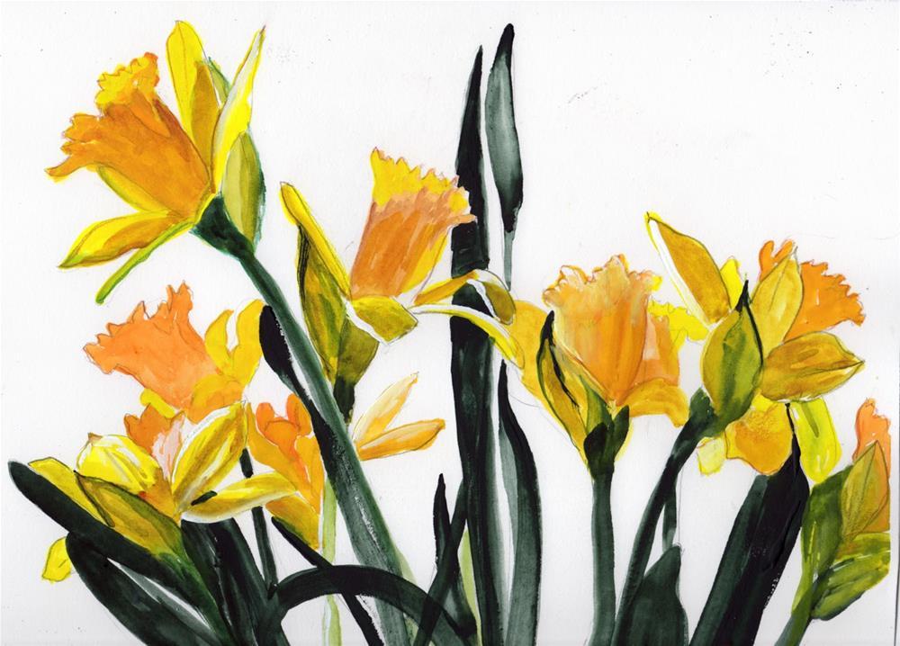 """""""Daffodils"""" original fine art by Bunny Griffeth"""