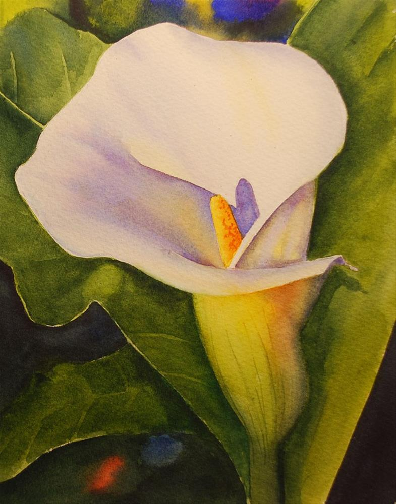 """Calla Lily"" original fine art by Mary Anderson"