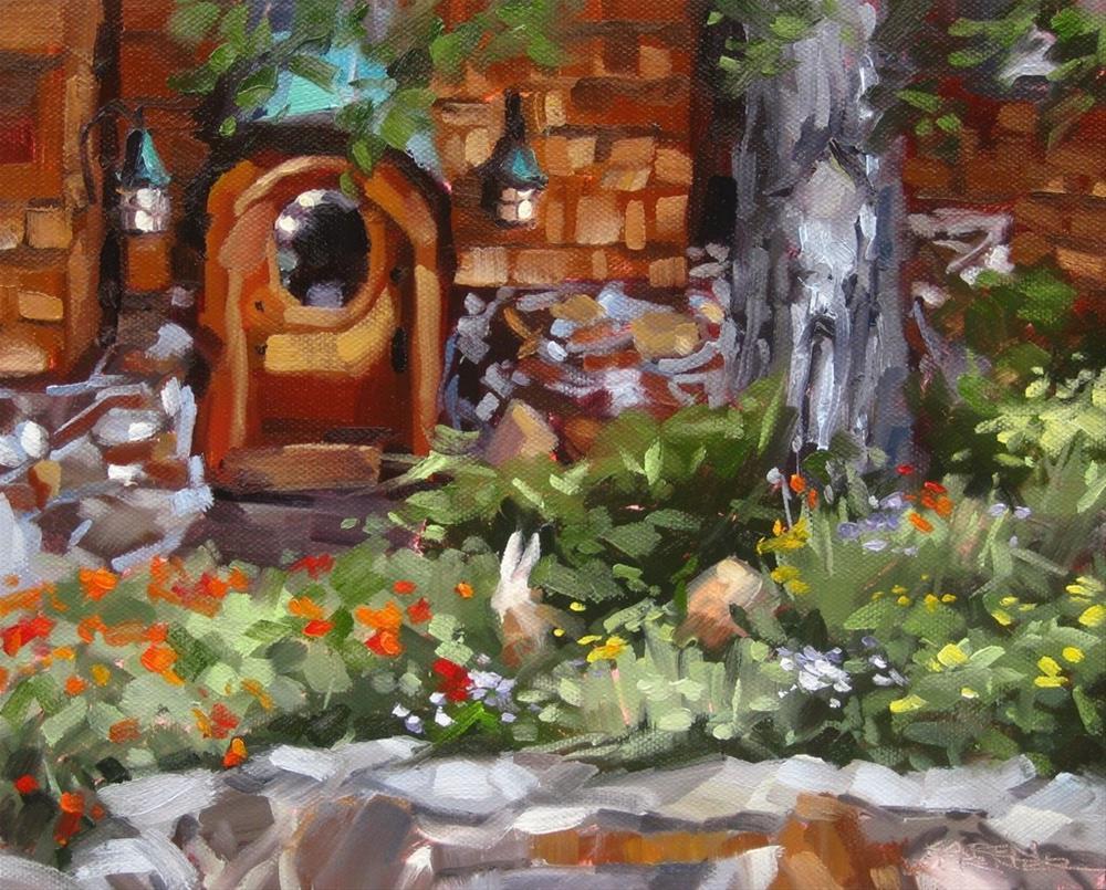 """""""Hobbit Door"""" original fine art by Karen Werner"""