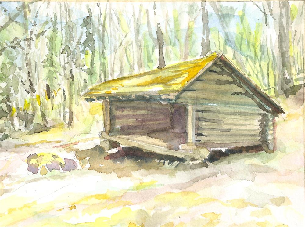 """Vacant - Adirondack Shed"" original fine art by Jean Krueger"