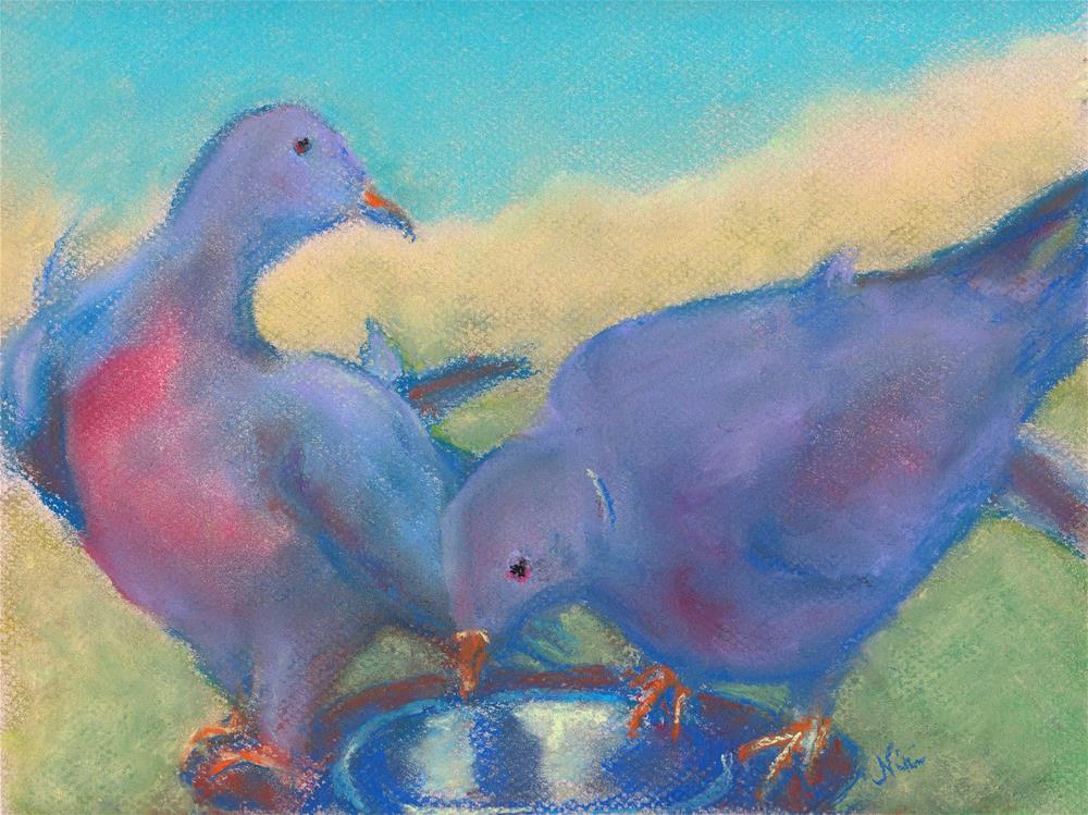 """Blushing Birds"" original fine art by Niki Hilsabeck"